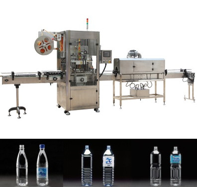 Silver Shrink Sleeve Labeling Machine With Man - Machine Controlling Technology